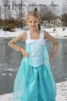 DIY Elsa Costume from Disney's Frozen - A tutorial for creating an Elsa costume at home.