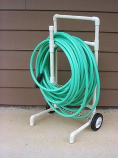 PVC hose caddy - FREE PVC PLANS AND IDEAS