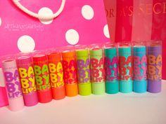 My favorite!!!!!! love baby lips!!!! want every single one. except for the ones i have now!!