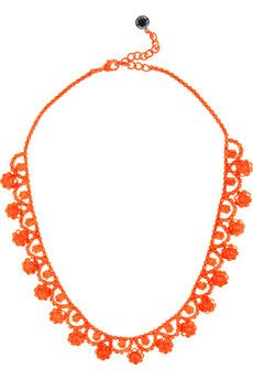 Orange Retro necklace.... Goes with Brights