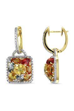 Sapphire  Diamond Earrings.