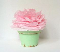 Garden Party Paper Flowers - 10 DIY Baby Shower, Bridal Shower, Birthday Party, Wedding Decorations - Large Pink Cottage Chic Blooms
