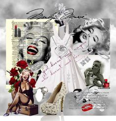"""""""The one and only Ms Marilyn Monroe"""" by susan-holsclaw-atwell on Polyvore"""