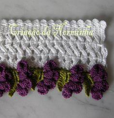 Precioso borde crochet. con instrucciones.