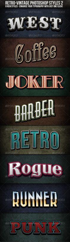 Retro-Vintage Styles 2 $5.00