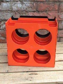 Vintage Retro Discotec Cogebi Belgium Orange Red Black Designer Vinyl Record Rack Holder Circa 1960s £20 #FollowVintage