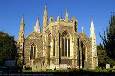 Victorian Chancel of St. Mary the Virgin Parish Church, Church of England, Dover, Kent, UK