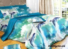#dolphin #sea Jumping Dolphin 3D Print Duvet Cover 4 Piece Polyester Bedding Sets  Live a better life, start with @beddinginn http://www.beddinginn.com/product/Beautiful-Jumping-Dolphin-3D-Print-Duvet-Cover-4-Piece-Bedding-Sets-10575724.html