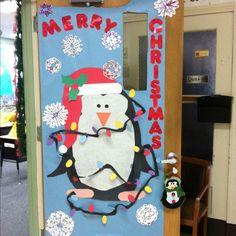 Penguin Christmas Door