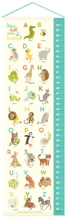 Hey, I found this really awesome Etsy listing at http://www.etsy.com/listing/110716652/growth-chart-alphabet-personalized