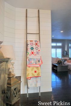 ladder of quilts