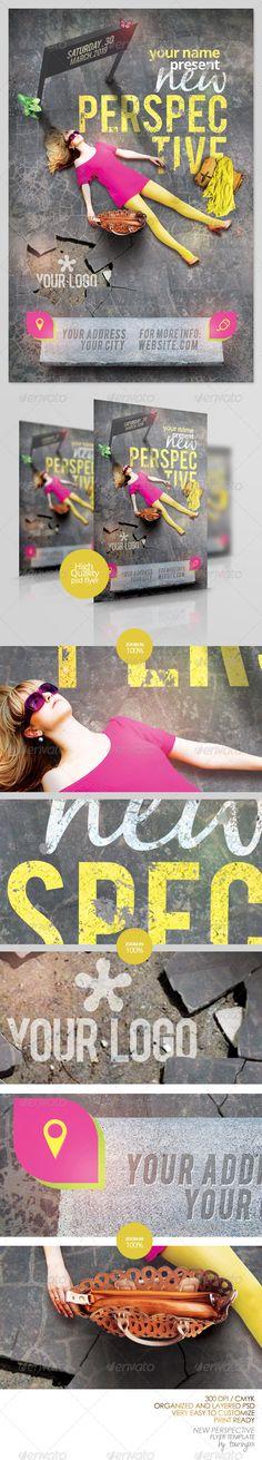 fashion flyer, flyer templat, club parti, perspect flyer, print templat