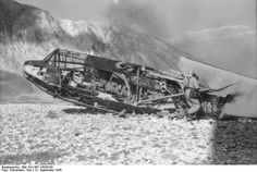 SEP 12 1943 Mussolini is rescued in daring Fallschirmjäger raid One of the gliders that crashed during the landing.