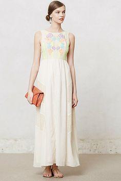Neon Bloom Maxi Dress #anthropologie