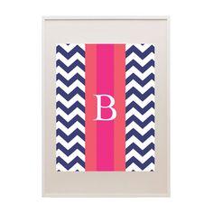 Free Chevron Rugby Stripe Printable Monogram | via @Angie Yeargan Monogram #monogram #freeprintable