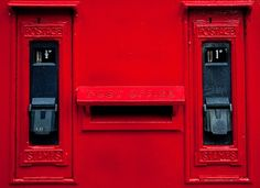 colour, stamp, letter boxes, box red, red mailbox, red red, mail box, accent colors, post offic