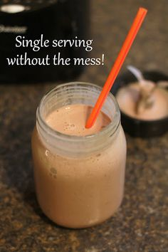 it's just Laine: Single Serving Smoothies Blended in a Mason Jar + a Yummy Protien Shake Recipe