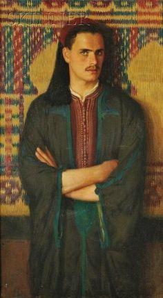 jeune homme en costume oriental par Albert Herter 1925