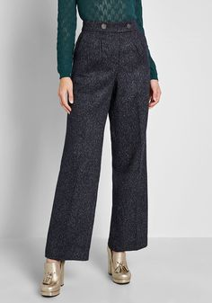 ModCloth Decisions, Decisions Wide-Leg Pants Navy | ModCloth