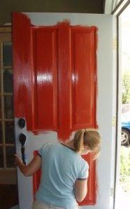 How to paint your front door.  http://www.fivestarpainting.com/designtips/2011/07/26/how-to-give-your-front-door-a-european-make-over/