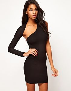 Enlarge ASOS Body-Conscious Dress With One Sleeve