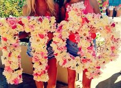 Floral Pi Beta Phi letters! #piphi #pibetaphi