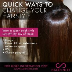 Want a super quick style switch? Try one of these...  #Hairfinity