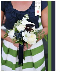 Colour Palette No. 12: Navy Blue + Olive Green | Wedding Obsession - Canadian Blog