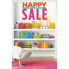 Happy Organized Home Sale | The Container Store shelv