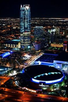 Downtown Oklahoma City at night! I love seeing how far my city has come. I am proud to be an Okie!