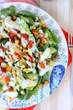 Roasted Corn & Tomato Summer Salad via @Molly Simon King Thyme for Health