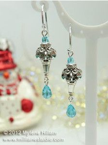 The Ice Blue Earrings are the perfect DIY earrings for formal occasions, no matter what the weather's like outside. An earrings pattern like this will always turn heads, which makes the fact that it's so easy even more amazing.