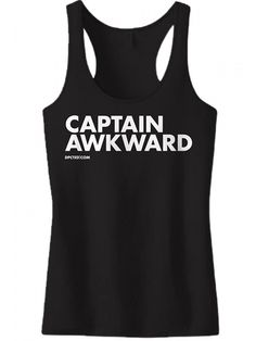 "Women's ""Captain Awkward"" Tank by Dpcted Apparel (Black) #InkedShop #captain #awkward #tanktop #racerback #tank #top #style #fashion"