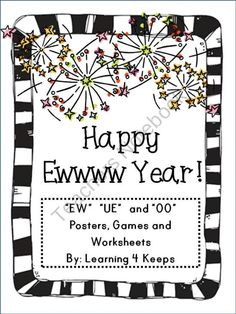 EW, OO, and UE Posters, worksheets, and games product from Learning-4-Keeps on TeachersNotebook.com
