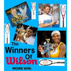 The Winners of Wilson, created by tennis-493 on Polyvore
