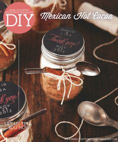 DIY Food Favor: Mexican Hot Cocoa #diyweddings