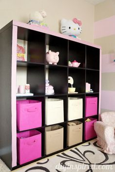 Upcycled Fabric Duck Tape Shelves