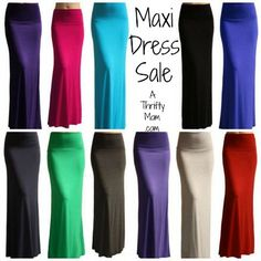 Maxi Dress Sale. MAXI SKIRT SOLID, THIN STRIPE AND THICK STRIPE – WITH FREE SHIPPING AND FREE RETURNS
