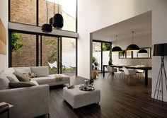 architectural vizualisations by Sarah Dorweiler, via Behance