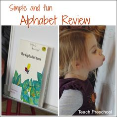 Exploring leaves outside and extending the fun inside with our Alphabet Tree letter review!