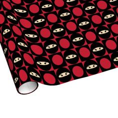 Cute Ninja Gift Wrapping Paper