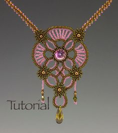 Beadwoven+pendant+Vintage+Lace+by+JewelryTales+on+Etsy,+$10.00