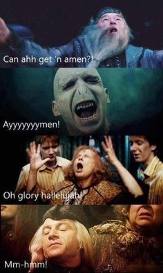Harry Potter and the Gospel Choir, i found this way funnier than it should be