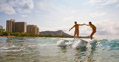 Surfing in Waikiki