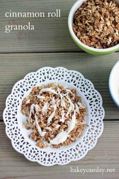 Cinnamon Roll Granola | Bake Your Day
