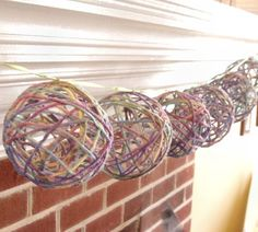 Paper Mache Yarn Balls - Easy Homemade Party Lanterns and Decorations