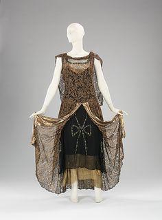 Circa 1929 Alice Herbin & Co. dress, via the Metropolitan Museum of Art.
