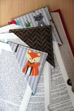 Quick Fabric Corner Bookmarks