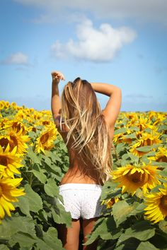 I'd love to have my own sunflower garden