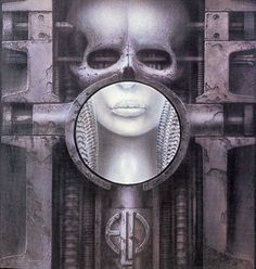 The classic cover to ELP's Brain Salad Surgery by H.R. Giger
